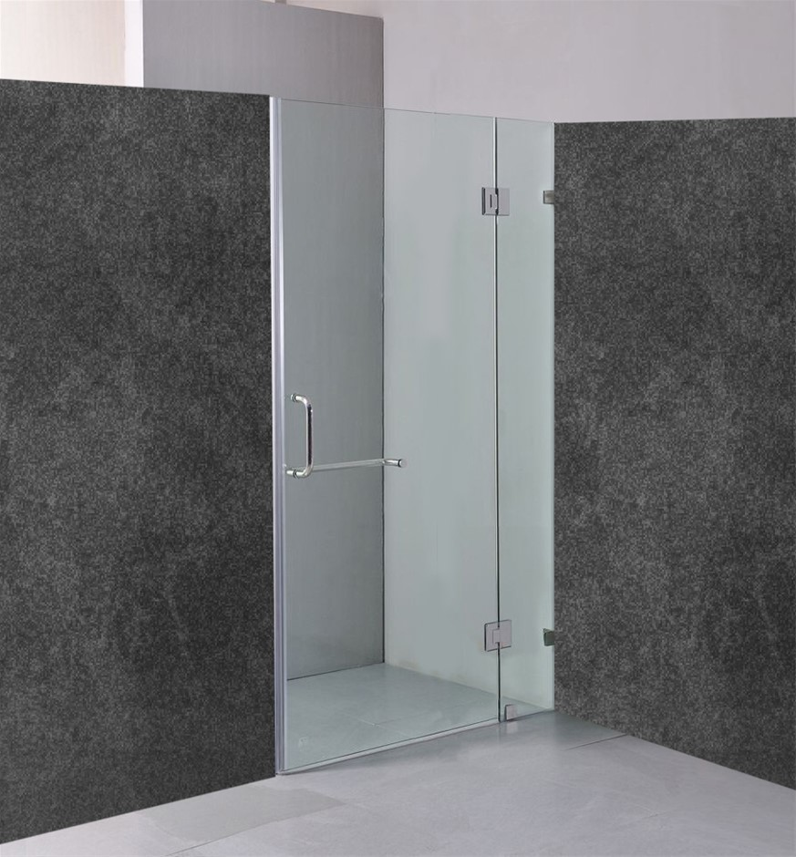 90 x 200cm Wall to Wall Frameless Shower Screen 10mm Glass Della Francesca