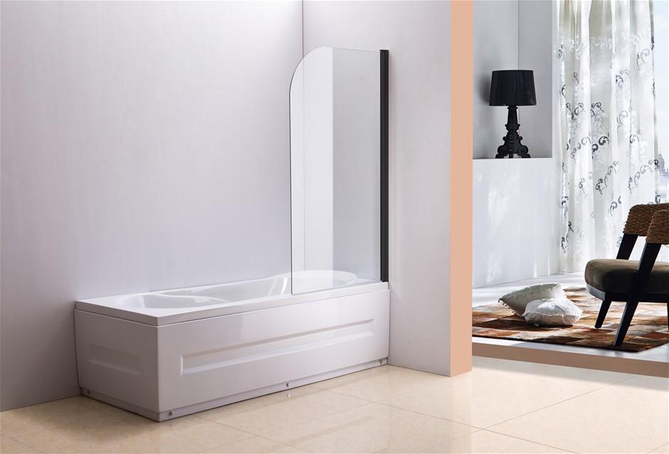 180 Pivot Door 6mm Safety Glass Bath Shower Screen 900x1400mm