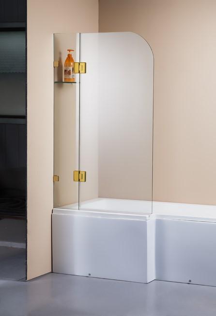 1200 x 1450mm Frameless Bath Panel 10mm Glass Shower Screen Della Francesca