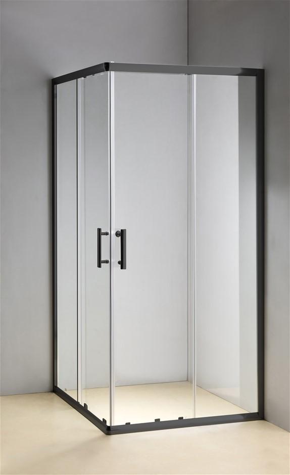 1000 x 900mm Sliding Door Nano Safety Glass Shower Screen Della Francesca