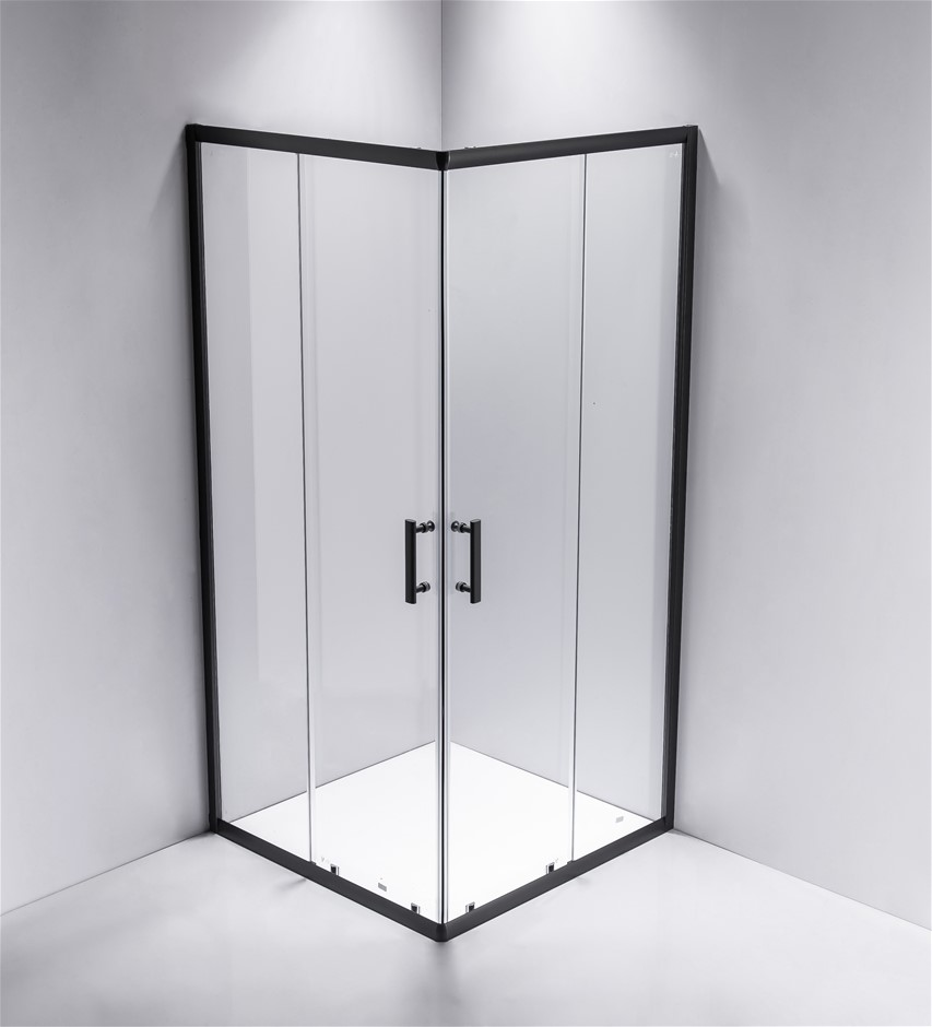 800 x 1000mm Sliding Door Nano Safety Glass Shower Screen Della Francesca