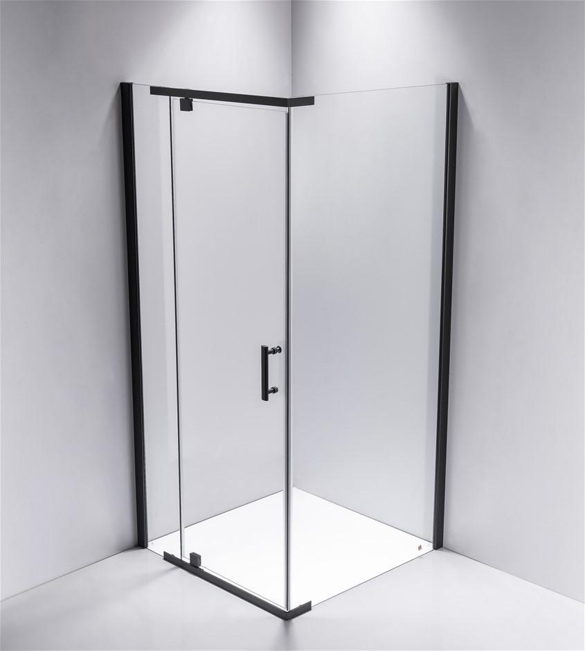 Shower Screen 900x900x1900mm Framed Safety Glass Pivot Door Della Francesca
