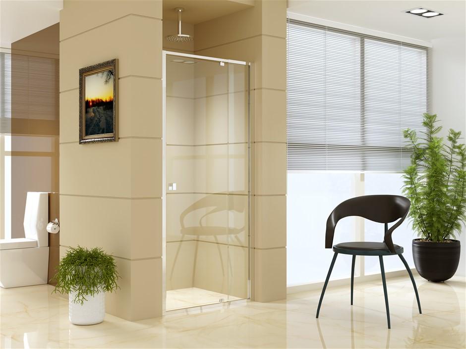 Adjustable Semi Frameless Shower Screen (82~90) x 195cm AS Glass