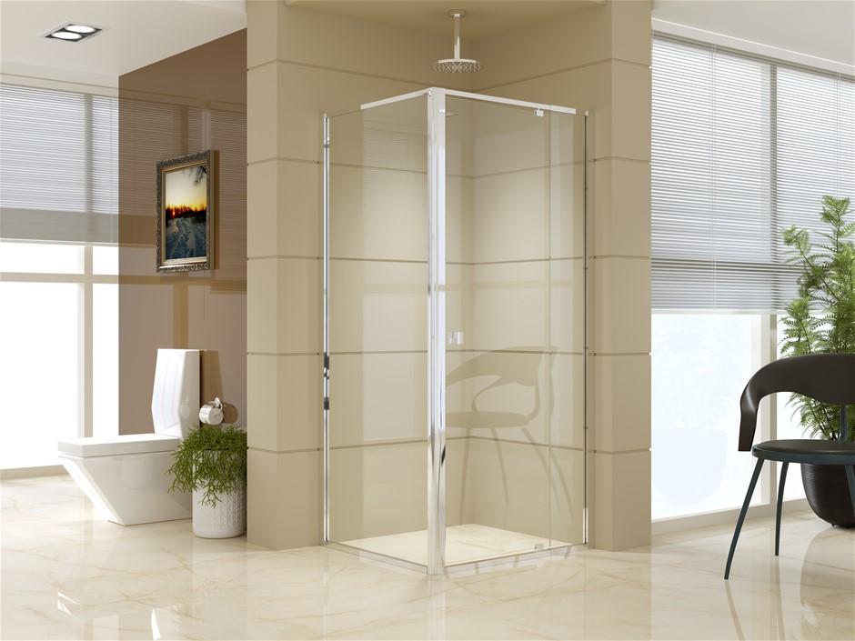 Semi Frameless Shower Screen (82~90)x 195cm & (77~80)x 195cm Side