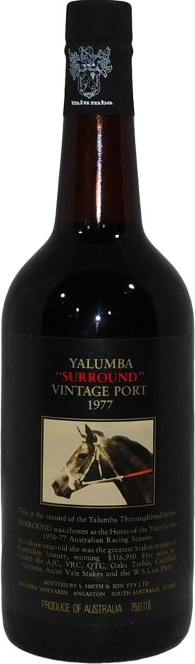Yalumba Thoroughbred Series Surround Vintage Port 1977 (1x 750mL), SA