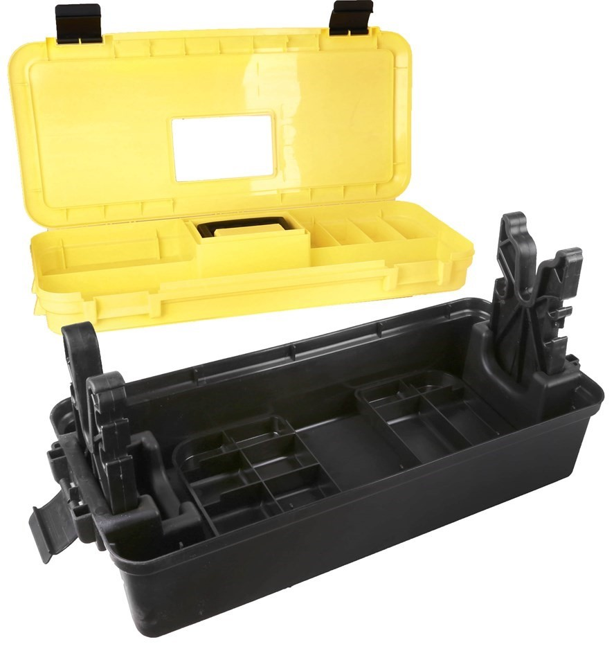 TSUNAMI Tactical Box Gun Maintenance Storage Box, 2 x Adjustable Gun Forks,