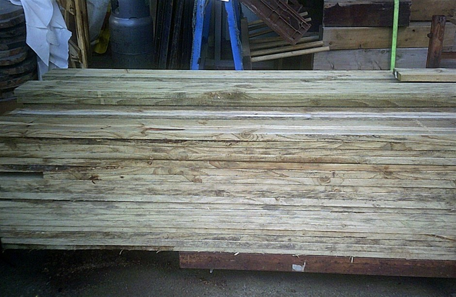 Pack of 150mm x 25mm Treated Pine. 20 lengths at 2.7 metres long.