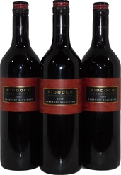 Riddoch Estate Cabernet Sauvignon 2003 (3x 750mL), Coonawarra. Screwcap