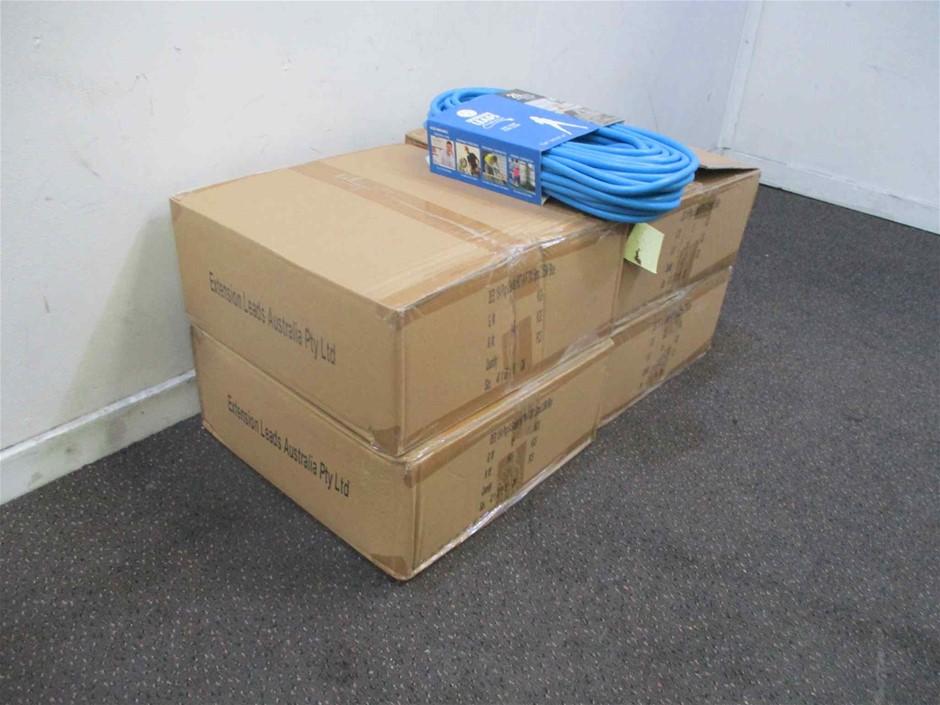 Extension Leads Aust 4 x Cartons of 25Mt Extension Leads H.D.