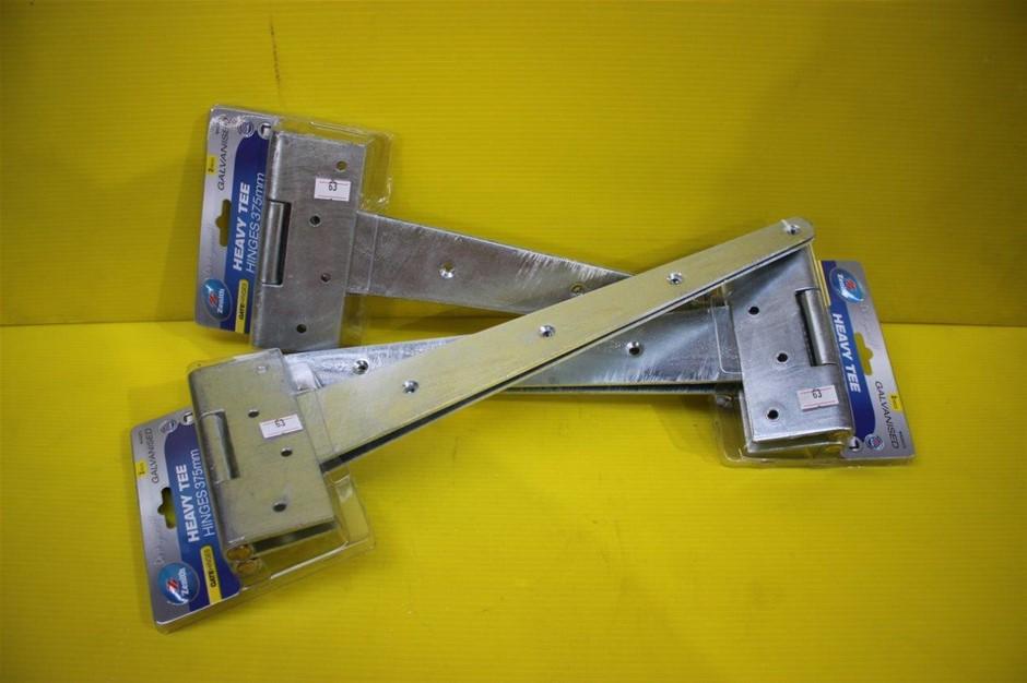 Set of 3 Packs of Zenith Heavy Tee Hinges 375mm Galvanised