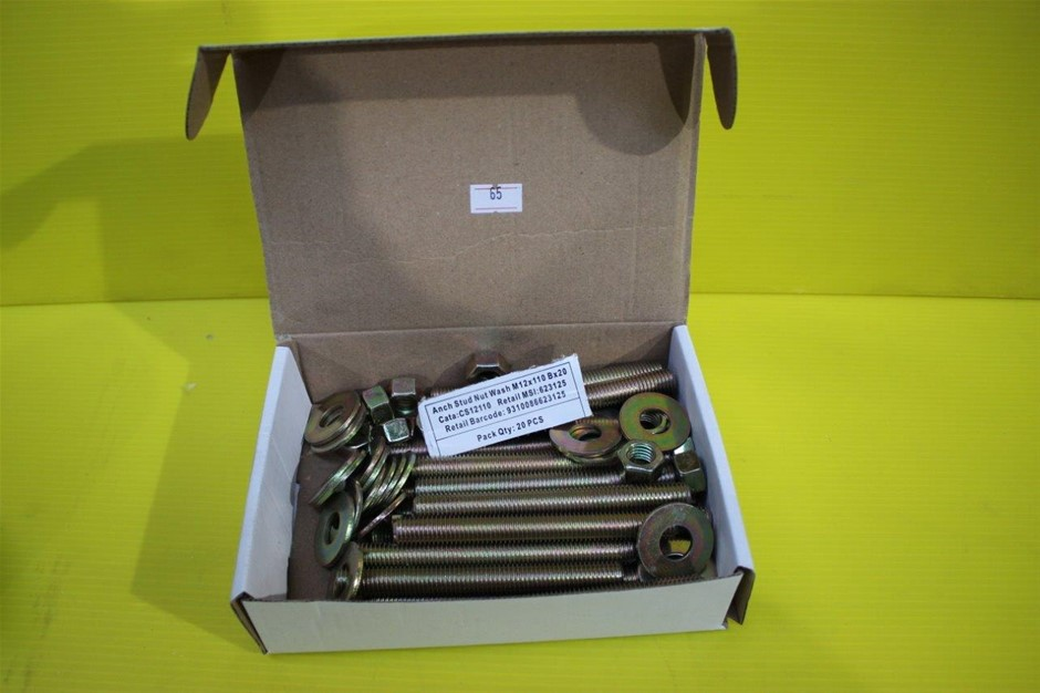 Box of 20 Ramset Anchor Stud Nut and Washer M12 X 110 B X 20