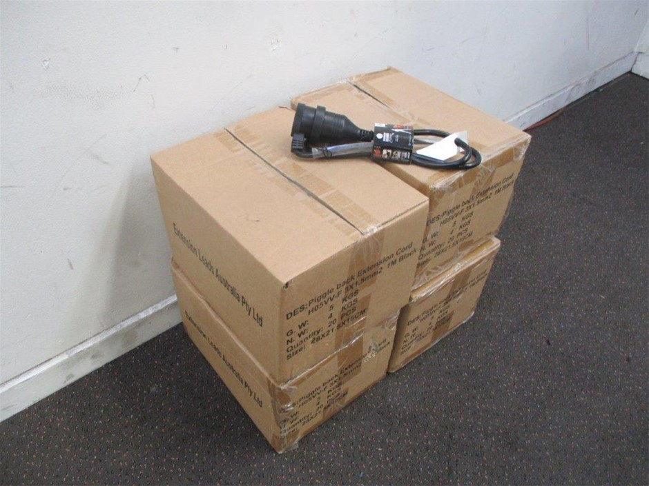 4 x Cartons of 1 Metre Extension Leads HD