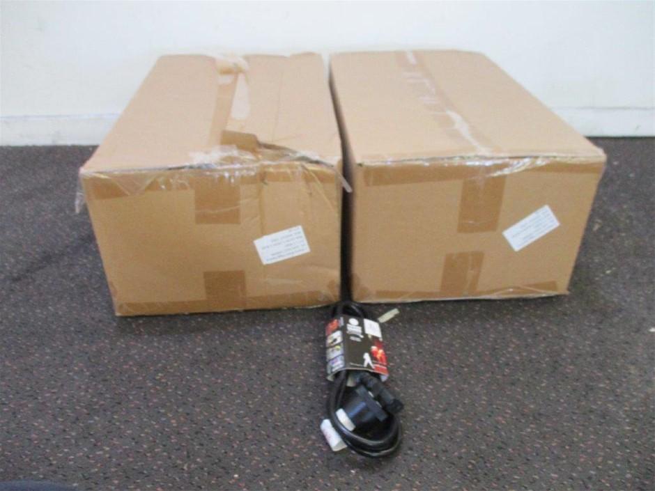 2 x Cartons 2m IEC Black Piggy Back Leads