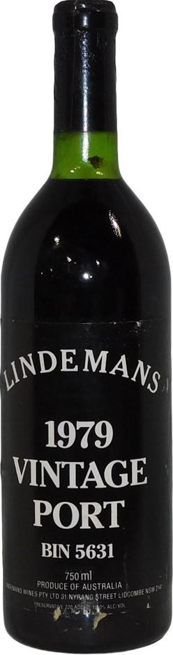 Lindemans Bin 5631 Vintage Port 1979 (1 x 750mL), AUS. Cork