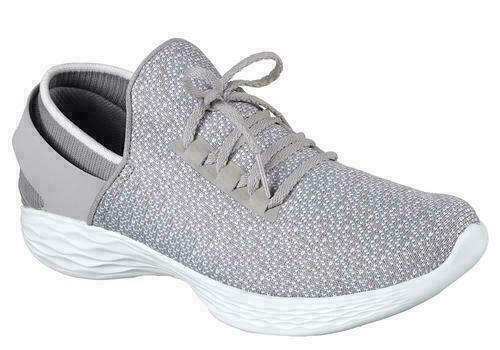 YOU by SKECHERS Women`s Knit Slip-on Shoes, US 8.5, Grey. Buyers Note - Dis