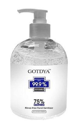 24 x GOTDYA 500ml Premium Hand Sanitizer Gel 75% Alcohol - CE/FDA Certified
