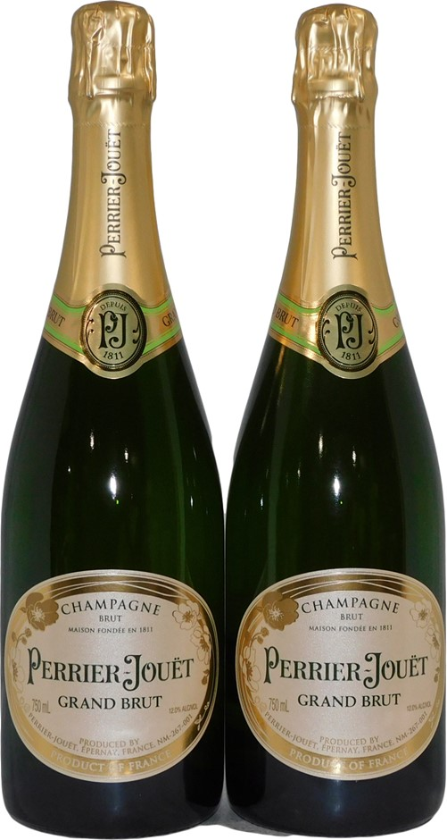 Perrier Jouet Grand Brut Champagne NV (2x 750mL), France. Cork