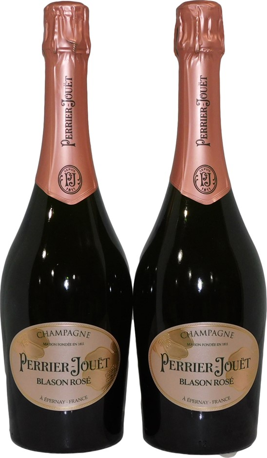 Perrier Jouet Blason Rose Champagne Rose NV (2x 750mL), France. Cork