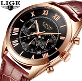 New LIGE Mens Fashion Watch Collection