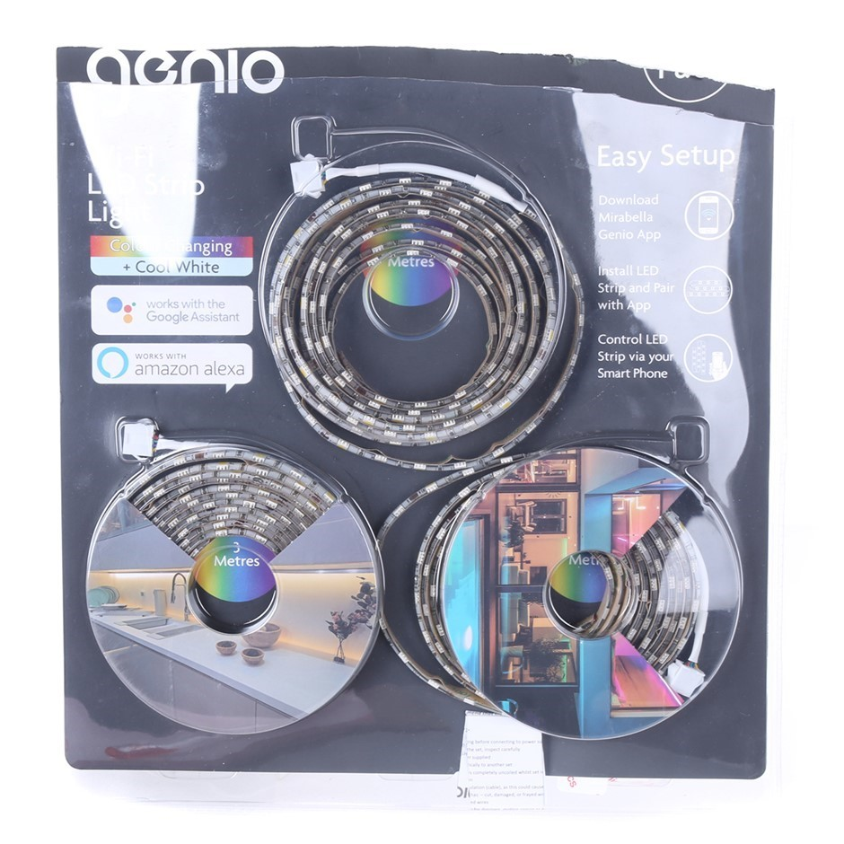 GENIO Wi-Fi LED Strip Light (Colour Changing + Cool White) N.B. Not in orig