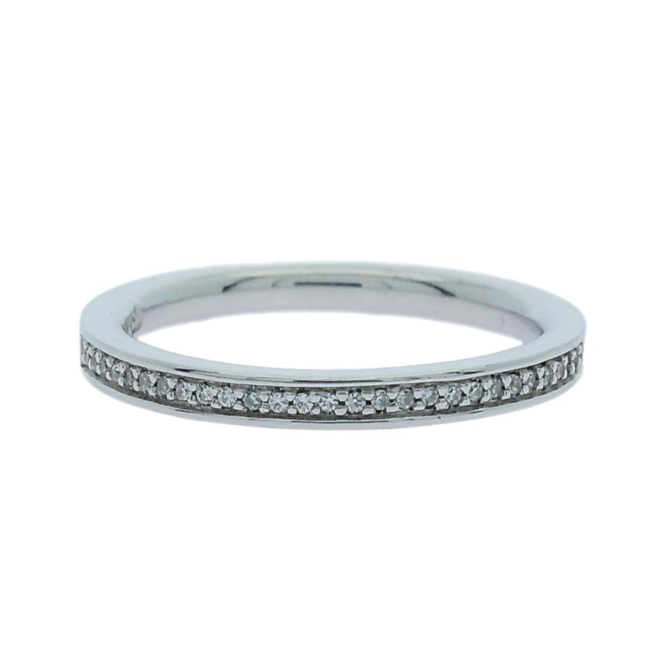 0.15 Carat Sterling Silver bead set band