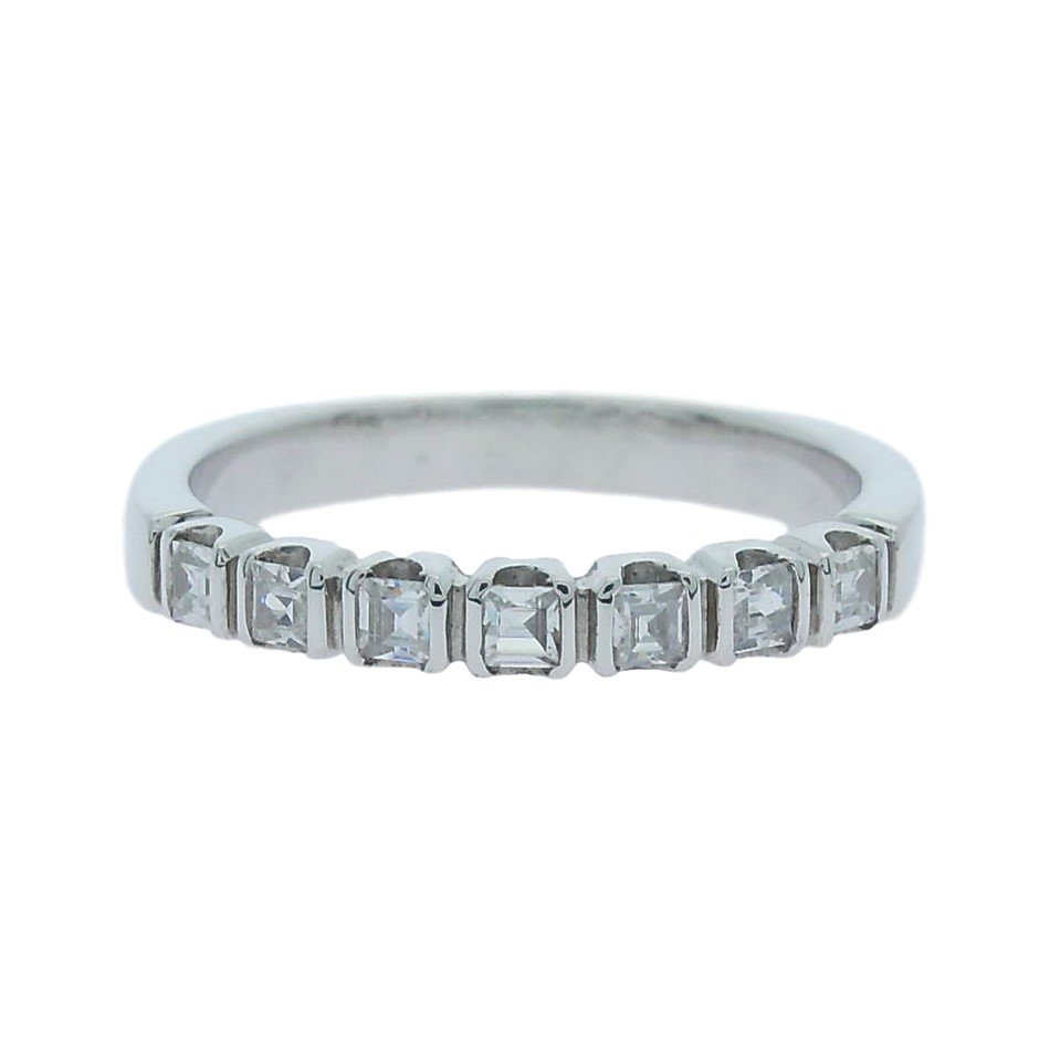 0.50 Carat Raphael cut princess Sterling Silver band