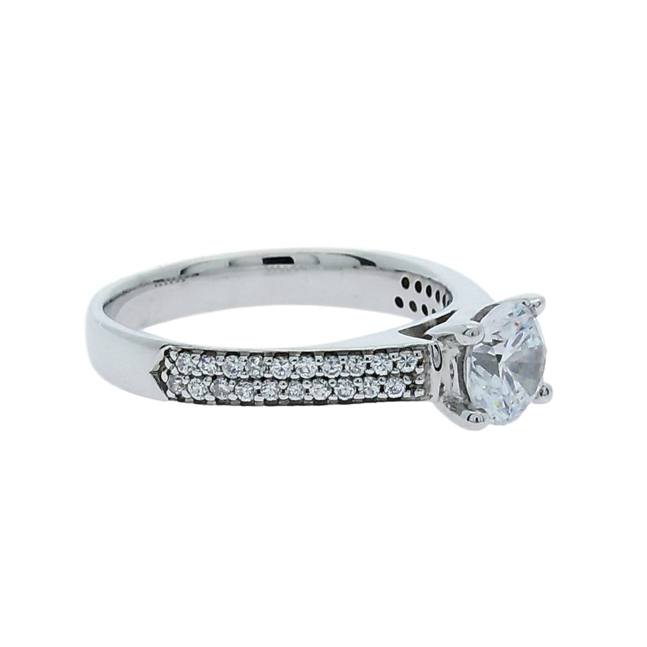 1.00 Carat Sterling Silver ring