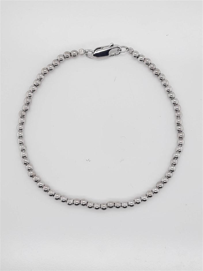 Sterling Silver Bead Bracelet 3mm
