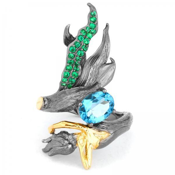 Gorgeous Genuine Topaz Mermaid Ring