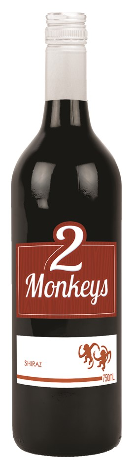 2 Monkeys Shiraz 2019 (12 x 750mL) SEA
