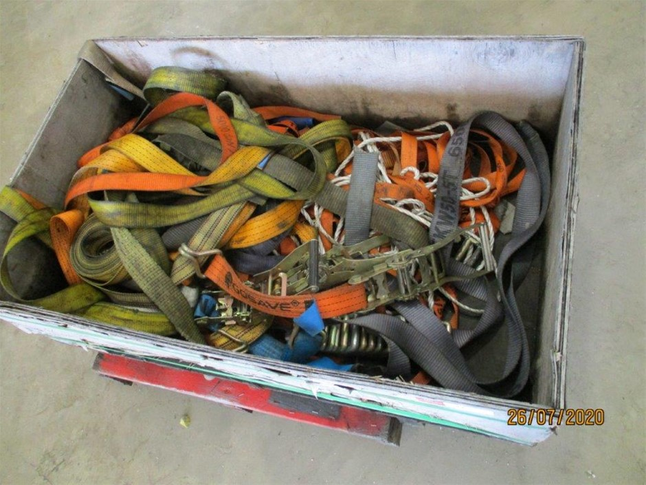 Incomplete Crate of Straps and Rachets