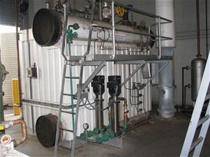 Packaged Boiler, design pressure 1180kpa, John Thompson, model Compact D, w
