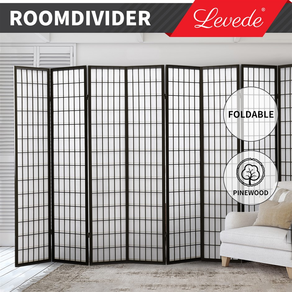 Levede Room Divider Screen 8 Panel Privacy Wooden Dividers Timber Stand
