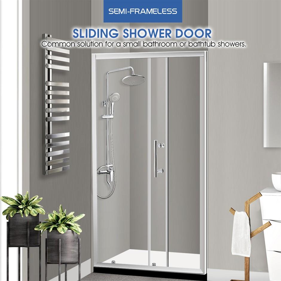 Levede Bath Shower Enclosure Screen Seal Strip Glass Door 1300x1900mm