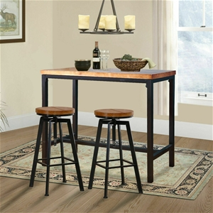 Levede 3pc Industrial Pub Table Bar Stoo