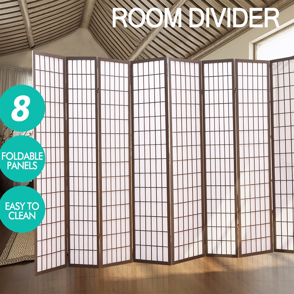 Levede 8 Panel Free Standing Foldable Room Divider Privacy Screen Frame