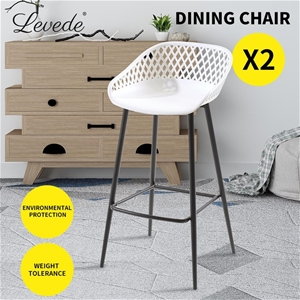 Levede Bar Stool Dining Chairs Metal Kit