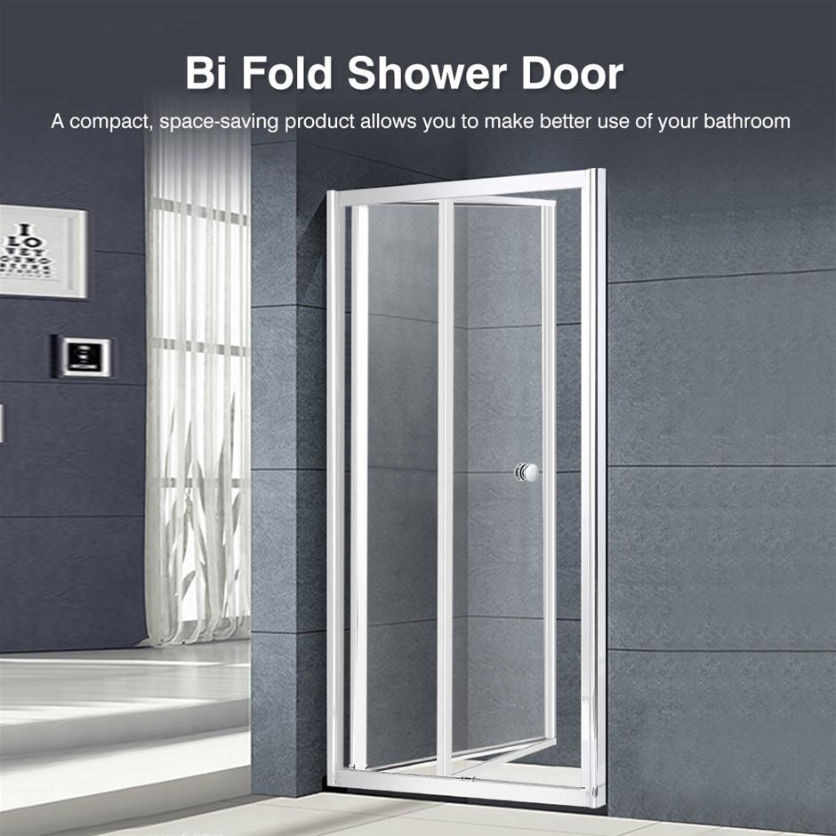 Levede Shower Screen Door Seal Enclosure Glass Panel Foldable 900x1900mm
