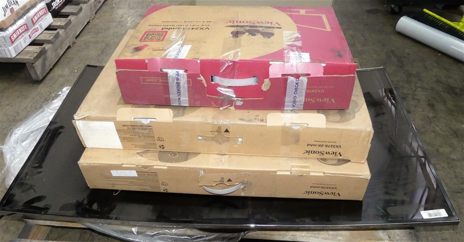 Pallet of assorted Televisions and monitors, including: Samsung UA5