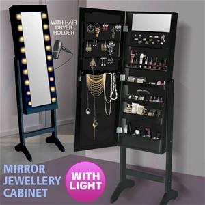 Levede Mirror Jewellery Cabinet Two Door