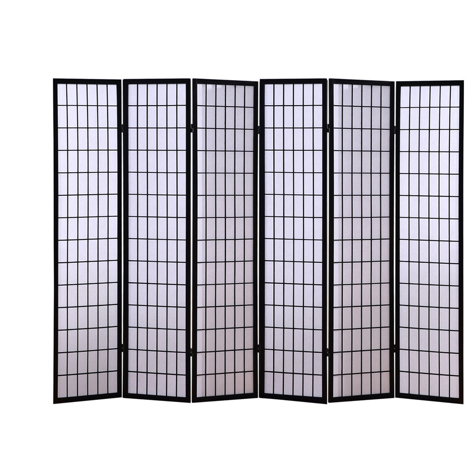 Levede 6 Panel Free Standing Foldable Room Divider Privacy Screen Frame