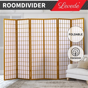 Levede Room Divider Screen 6 Panel Woode