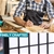 Levede 6 Panel Room Divider Screen Door Stand Privacy Fringe Wood Fold