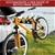 Monvelo Car Bike Rack Carrier 4 Rear Mount Steel Foldable Hitch Mount