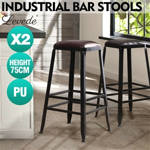 2x Levede Industrial Bar Stool Kitchen S