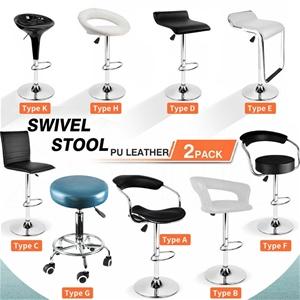 2x Levede Swivel Salon Barstool Hairdres