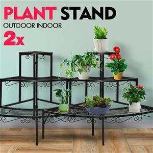 2x Levede Outdoor Indoor Plant Stand Met