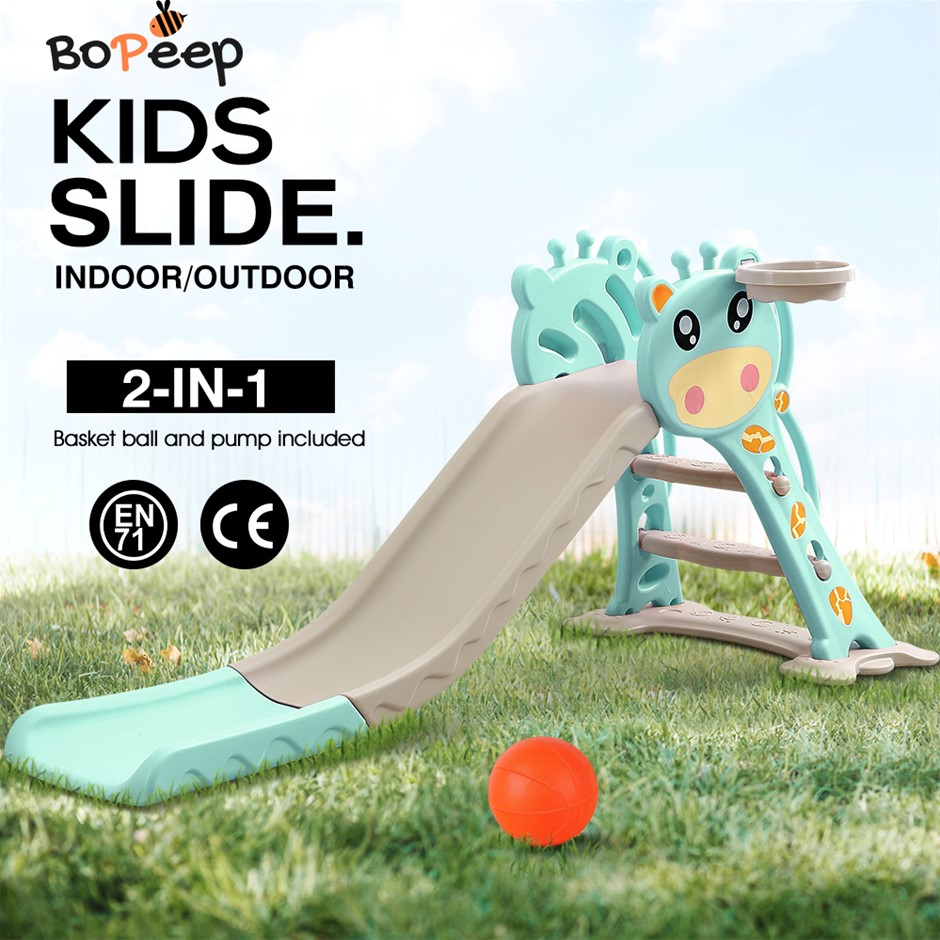 BoPeep Kids Slide Outdoor Basketball Ring Activity Center Toddlers PlaySet