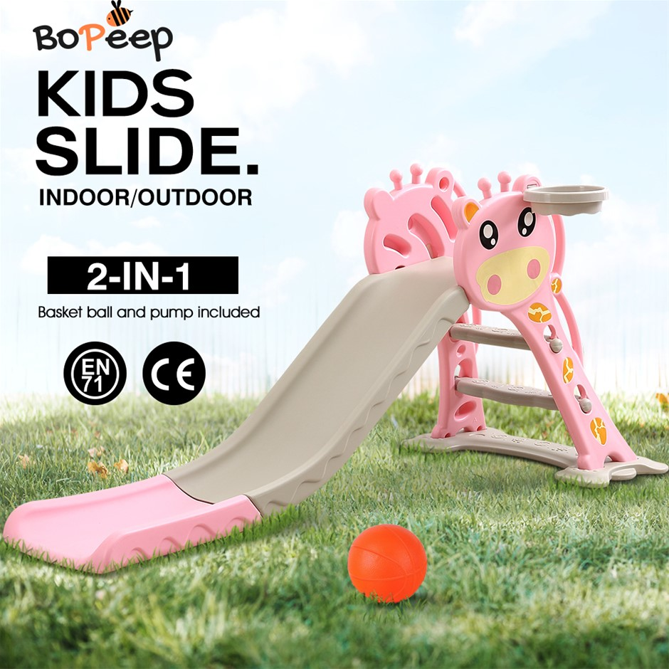 BoPeep Kids Slide Outdoor Basketball Ring Activity Center Toddlers
