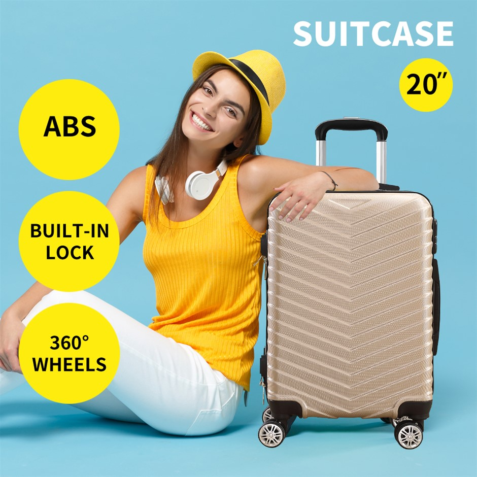 """28"""" Travel Luggage Carry On Expandable Suitcase Trolley Lightweight"""